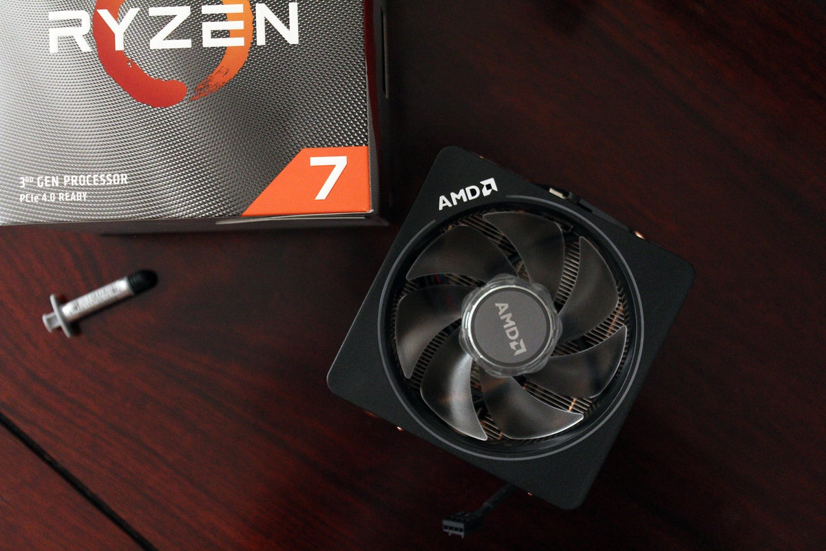 AMD 3700X Wraith Prism Stock CPU Cooler with retail box