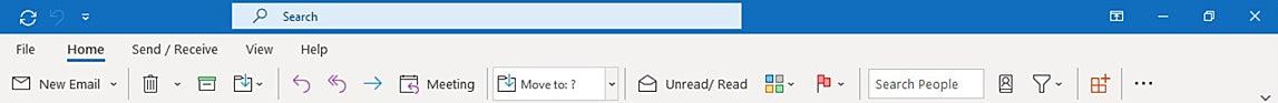 Outlook microsoft365 02a cinta simplificada