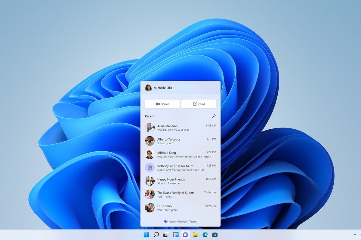 teams chat in windows 11