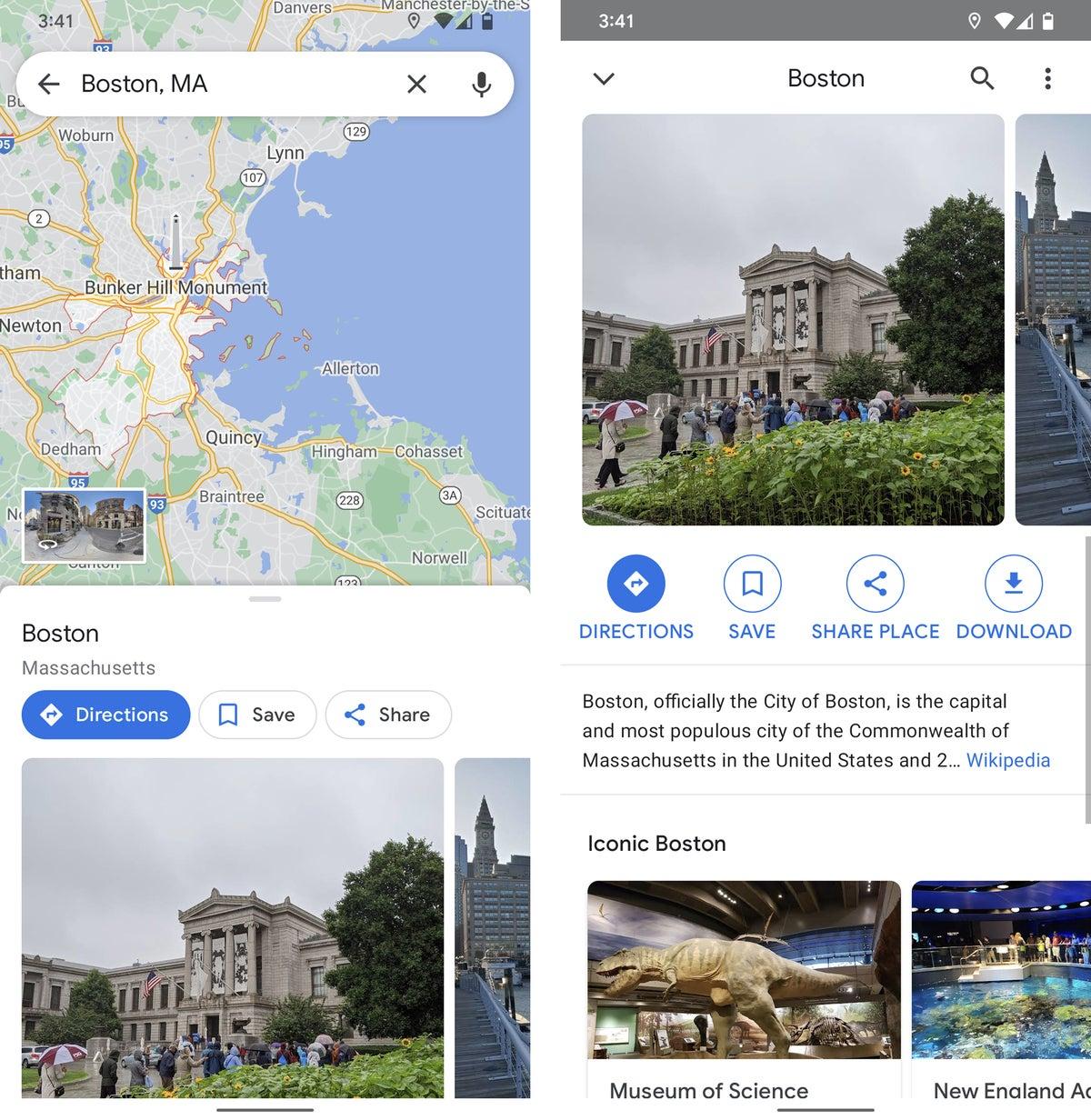 datos de android google maps 2021