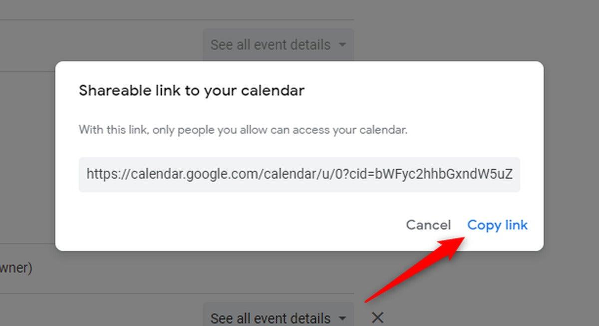 copy link button
