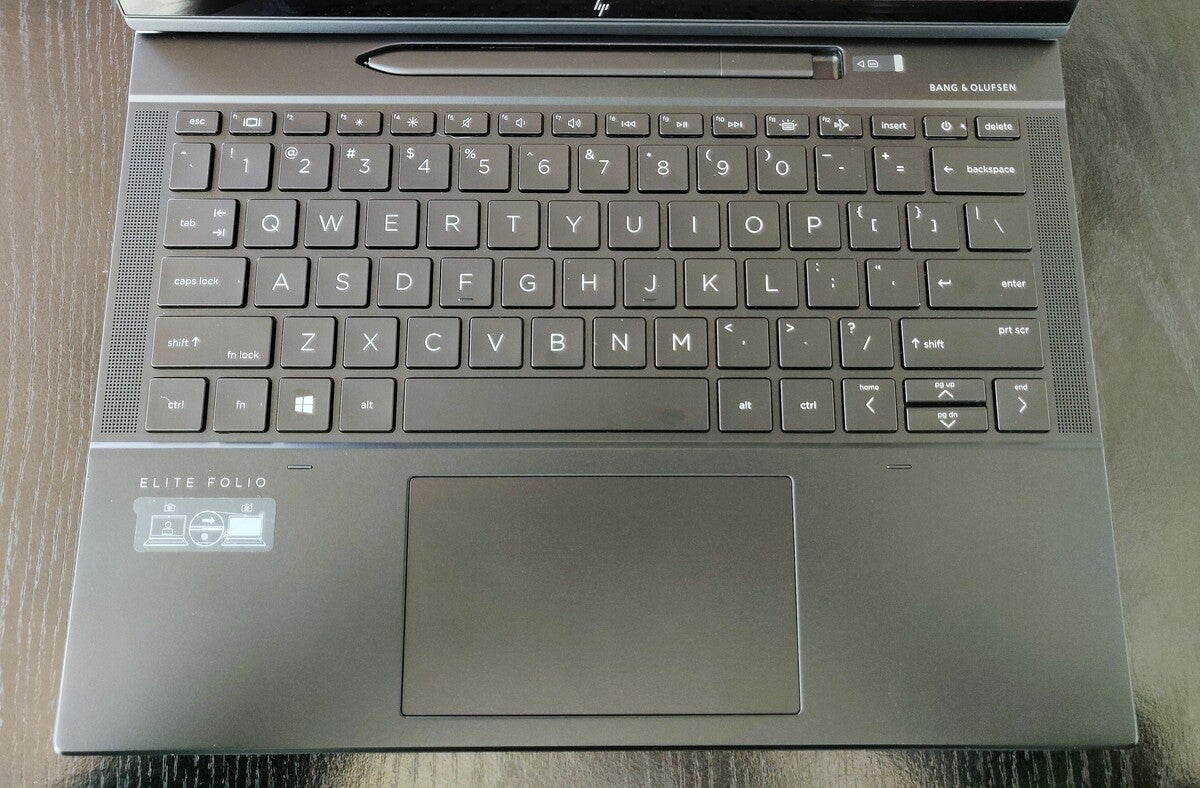 hp elite folio keyboard and pen cubby
