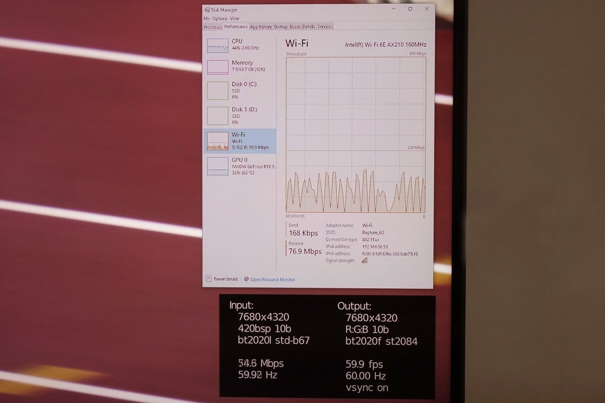 2020년 올림픽의 인텔 8k 60fps 스트림