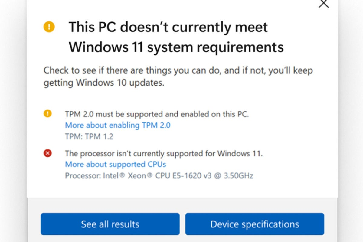 pc health check update 100900740 large.3x2 - Microsoft backs down: Older PCs will be able to run Windows 11