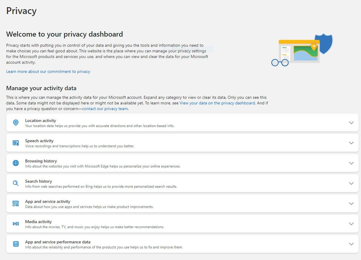win10 privacidad panel de privacidad de microsoft