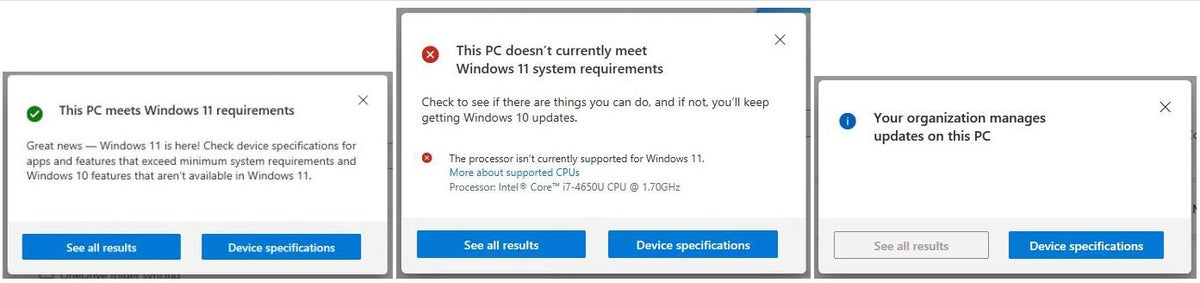 win11 upgrade check 02 pchealthcheck assessment