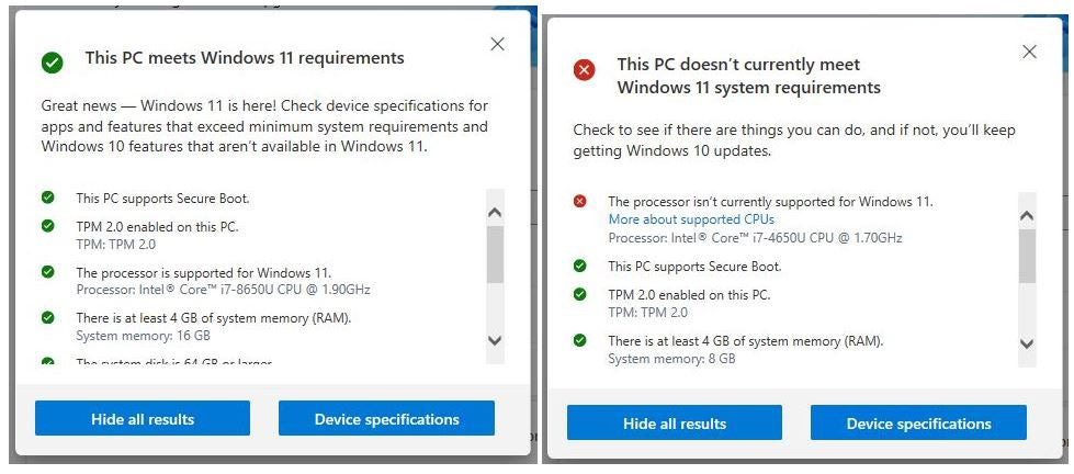 win11 upgrade check 03 pchealthcheck details