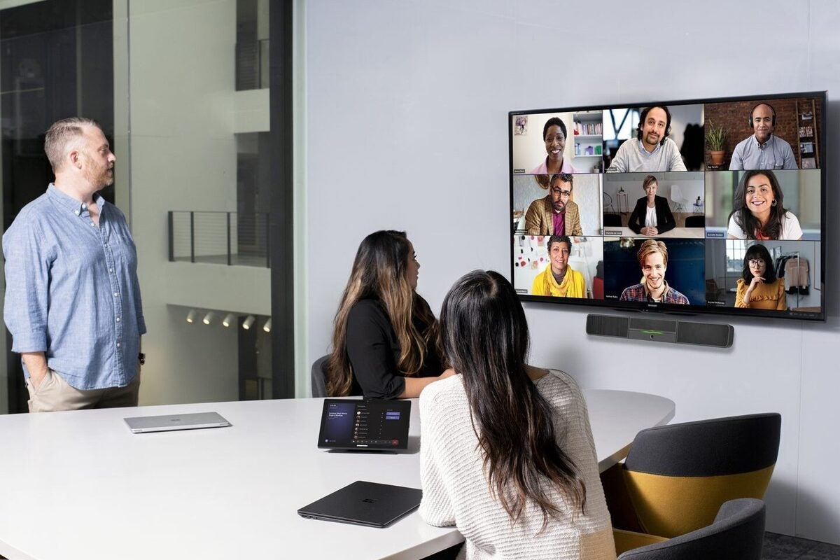 As the hybrid workplace emerges, Microsoft and Google beef up video tools