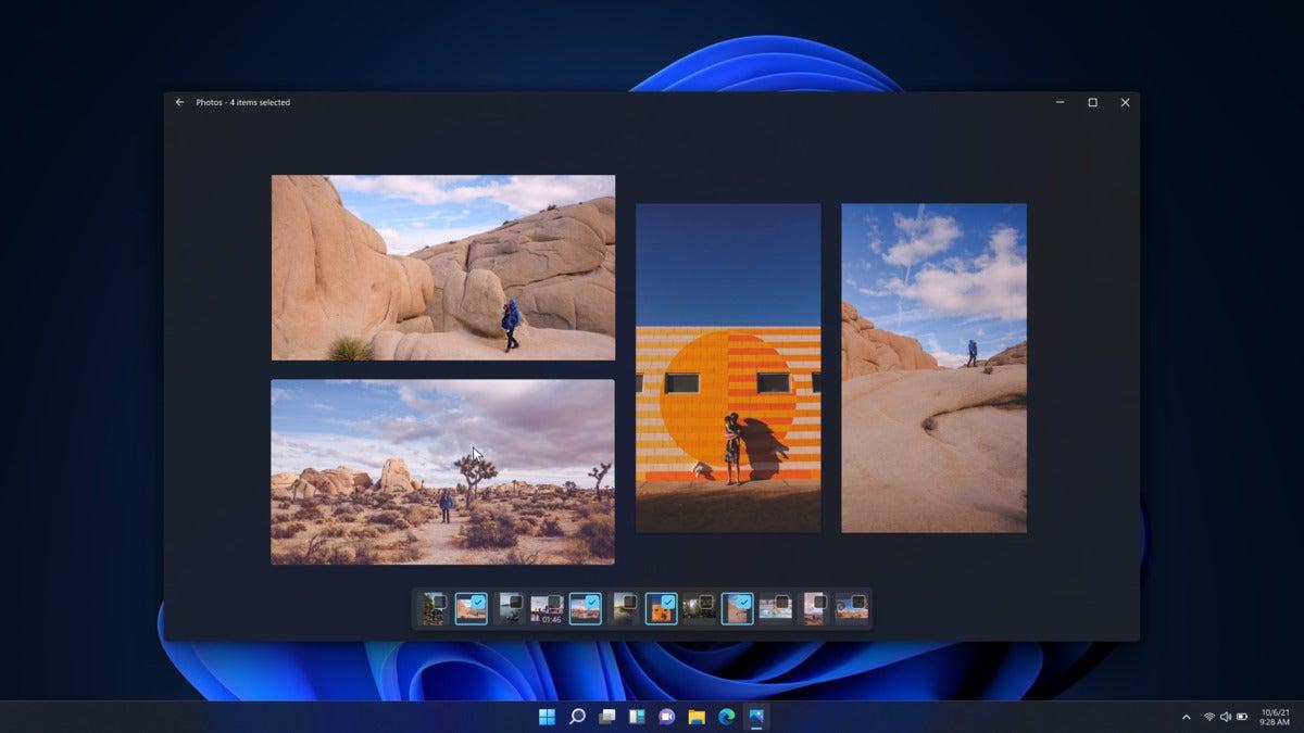 dark mode multiview windows 11 Photos app