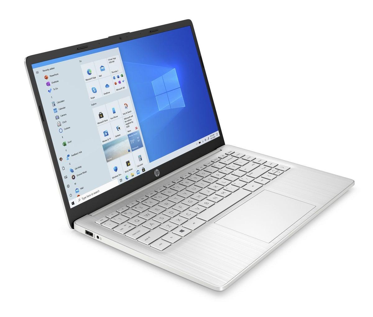 hp 14 inch laptop wlan naturalsilver nt hdcam nonodd nonfpr coreset frontright
