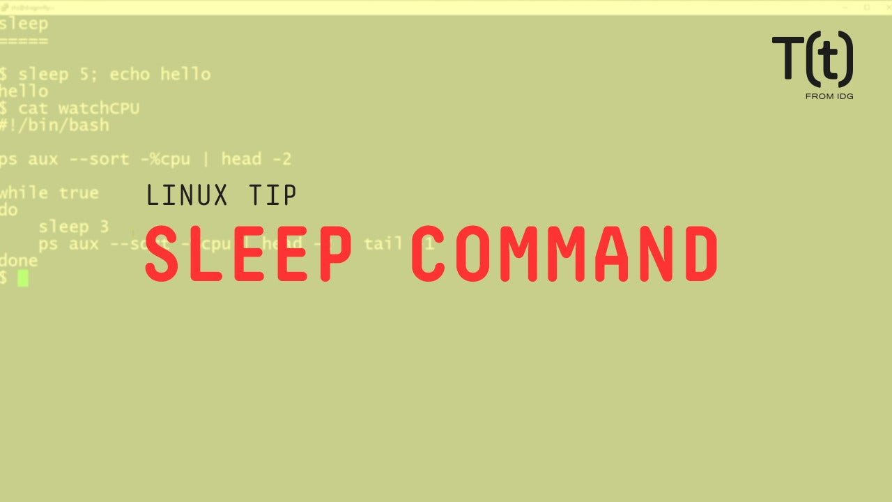 How to use the sleep command: 2-Minute Linux Tips