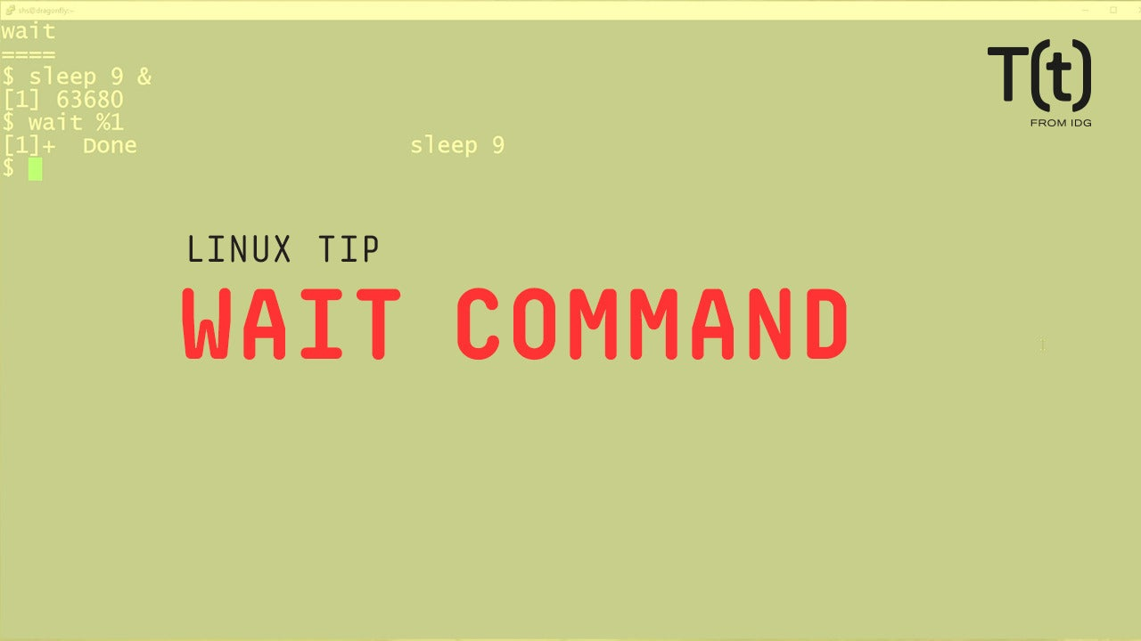 How to use the wait command: 2-Minute Linux Tips