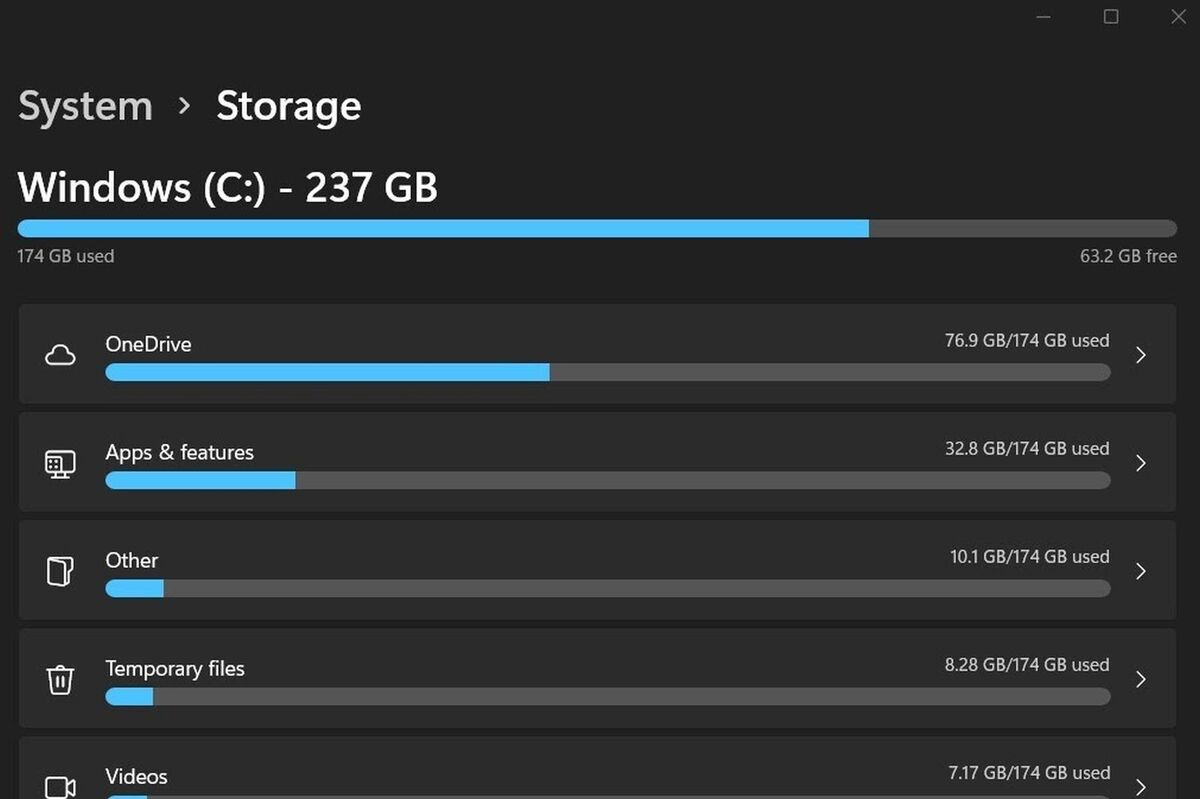 system storage