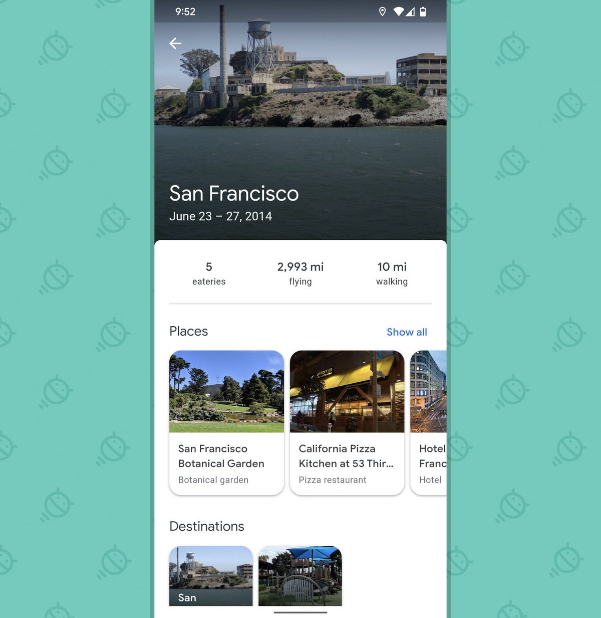 Google Maps Android: Trips