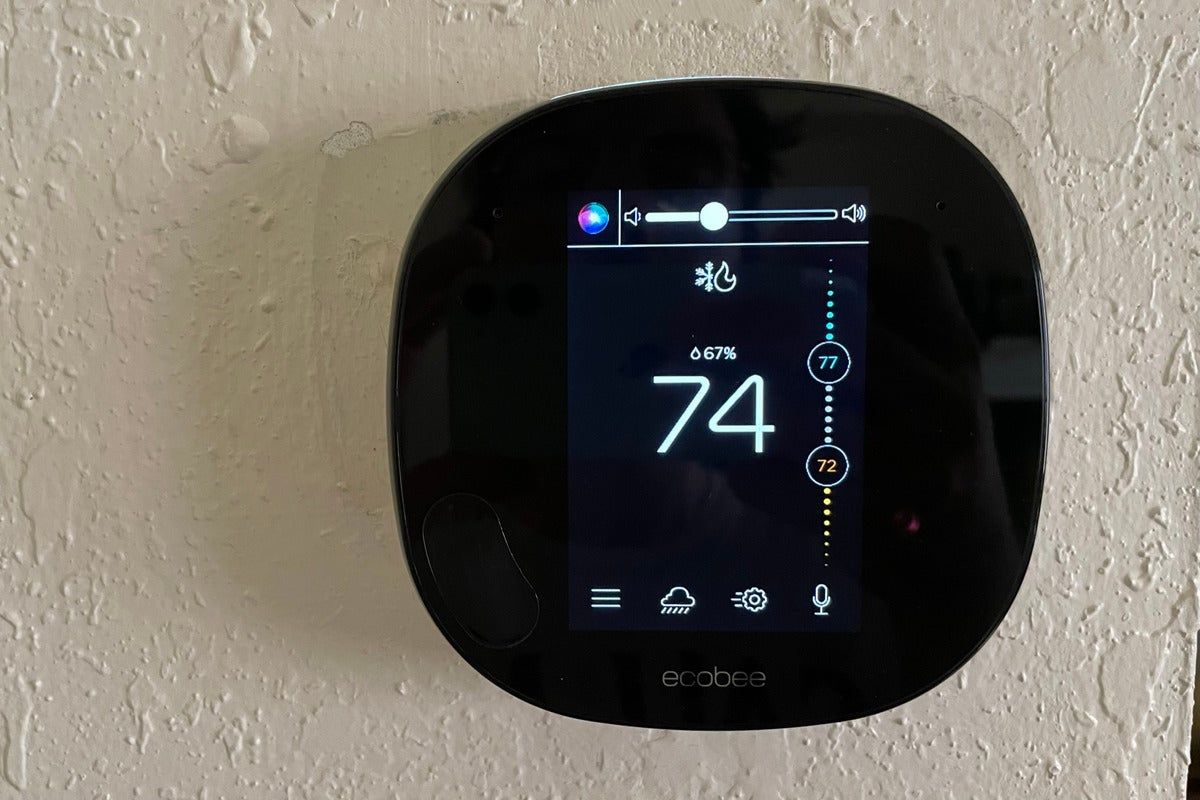 hey siri to an ecobee smart thermostat