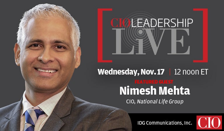 CIO Leadership Live, Nov 17