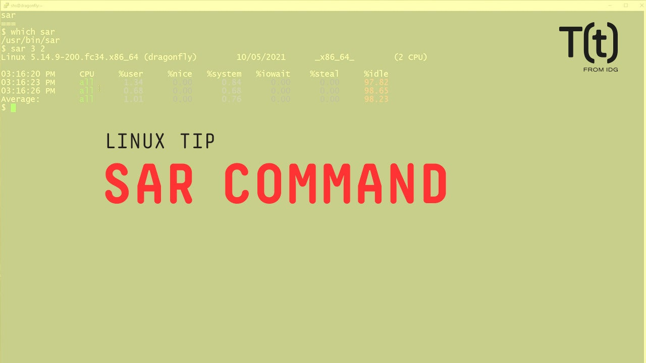 How to use the sar command: 2-Minute Linux Tips
