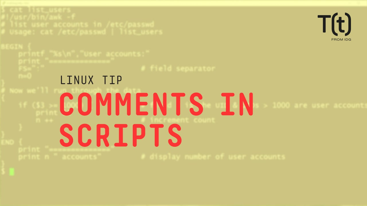 How to add comments in scripts: 2-Minute Linux Tips