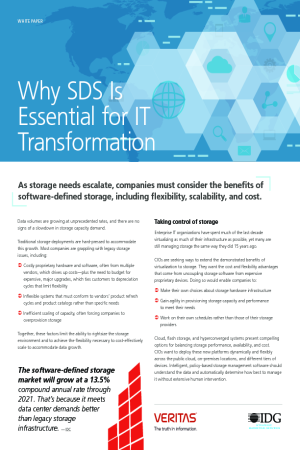 IDG Access Paper: Why SDS is Essential for IT Transformation