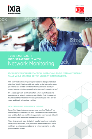 Turn Tactical IT Into Strategic IT with Network Monitoring