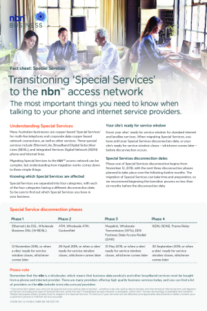 Transitioning 'Special Services' to the nbn™ access network