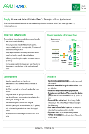 Learn about Data center modernization with Nutanix and Veeam®