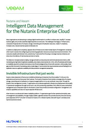 Intelligent Data Management for the Nutanix Enterprise Cloud