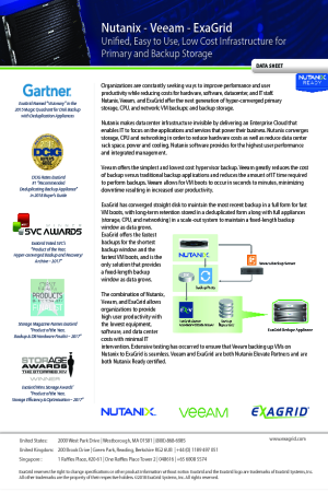 Unified, Easy to Use, Low Cost Infrastructure for Primary and Backup Storage
