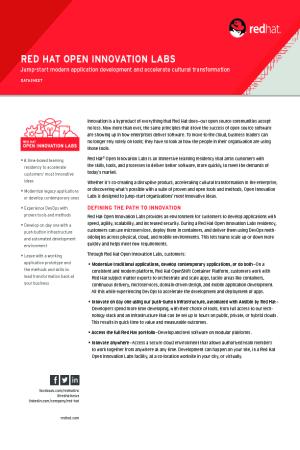 Open Innovation Labs Datasheet