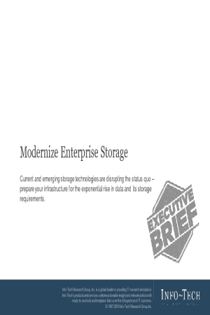 Modernize Enterprise Storage