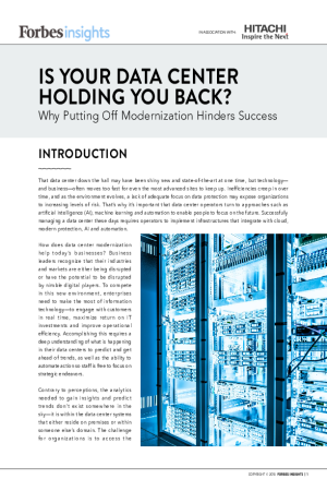 Is Your Data Center Holding You Back? Why Putting Off Modernization Hinders Success