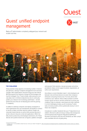 Quest Unified Endpoint Management