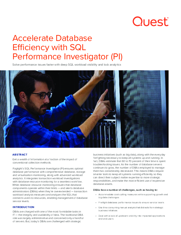 Accelerate Database Efficiency with SQL Performance Investigator (PI)