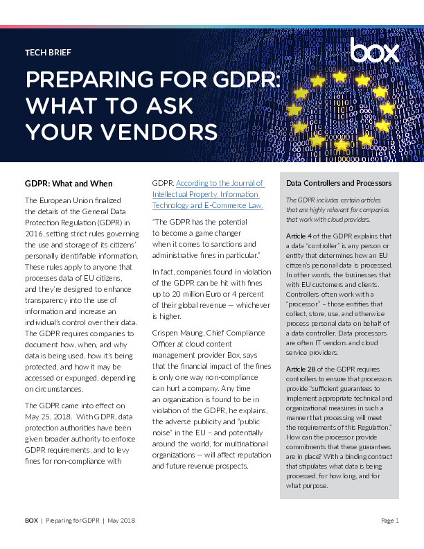 GDPR Prep: 3 key questions for your cloud vendors | Network