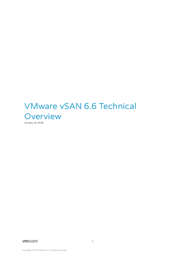 VMware vSAN 6 6 Technical Overview | CIO