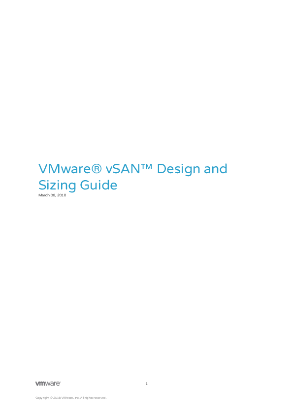 VMware® vSAN™ Design and Sizing Guide | Network World