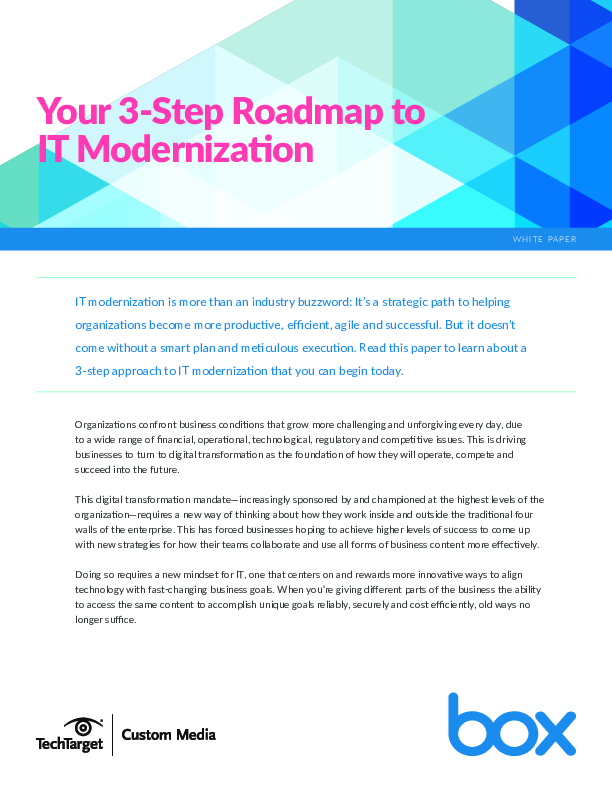 3 steps to IT modernization | CIO