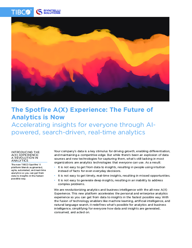 The Spotfire A(X) Experience: The Future of Analytics is Now | CIO