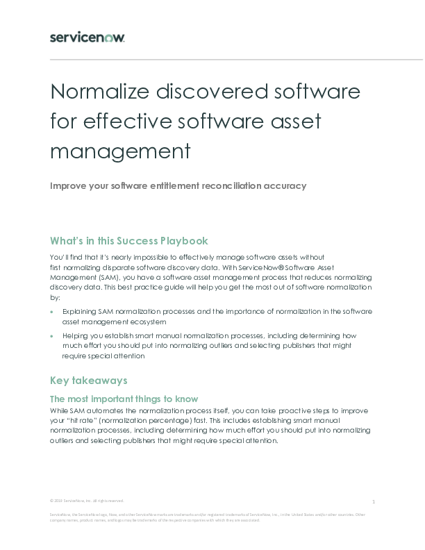 Normalize Discovered Software to Effective Software Asset