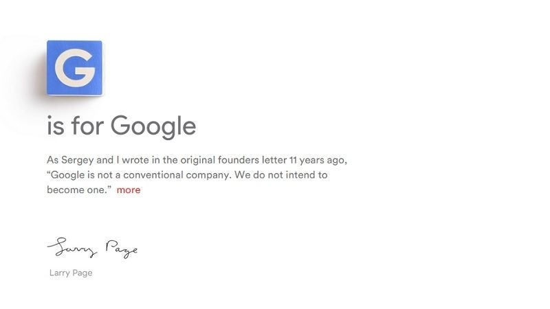 August 2015 - Google reveals Alphabet plans, but downplays impact on antitrust case
