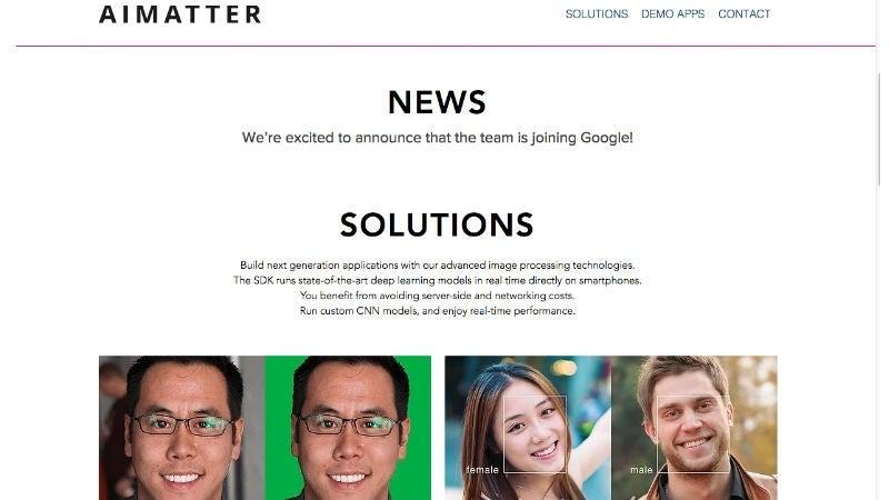 Google acquires AIMatter