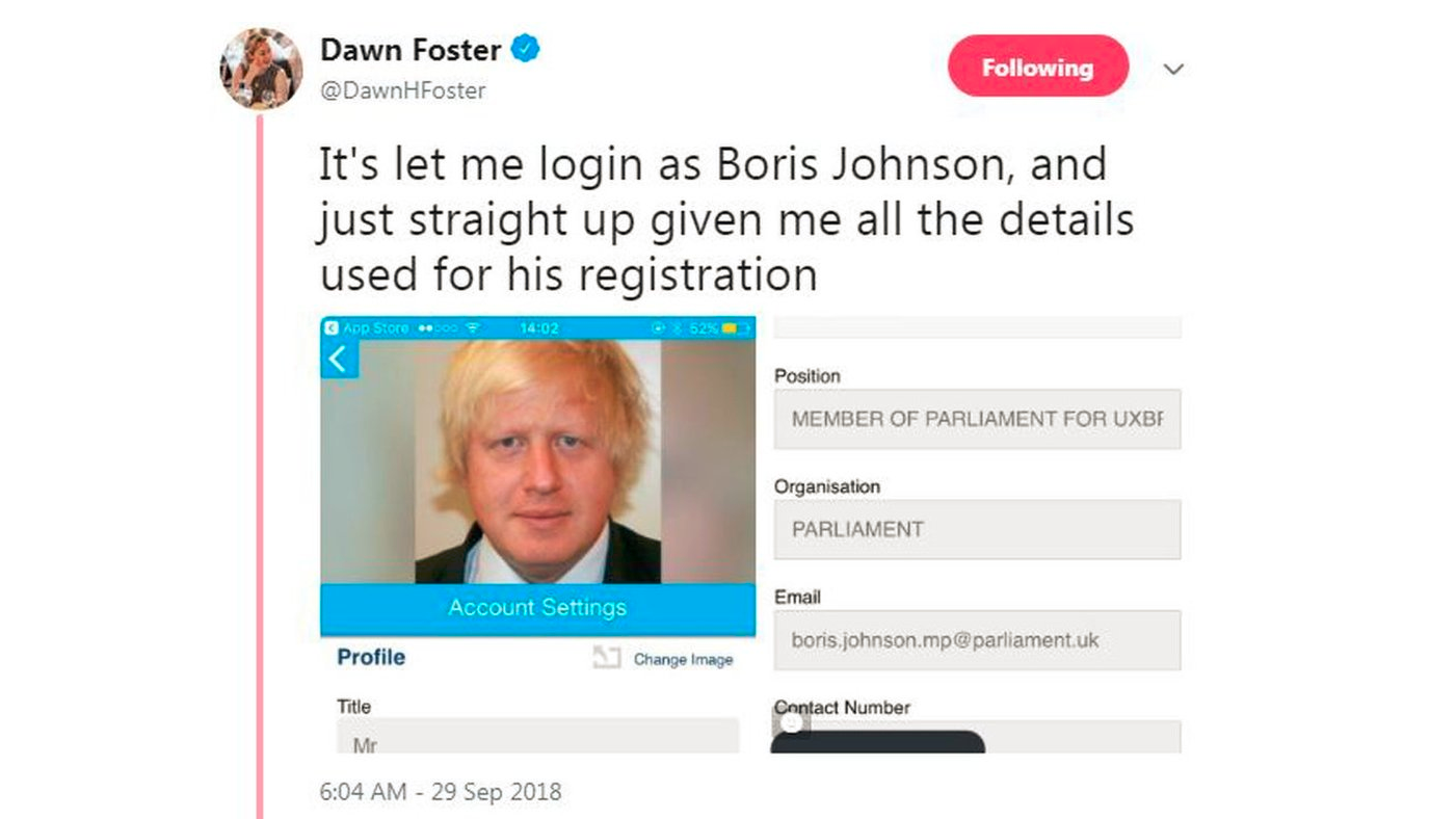 Conservative Party conference app had security flaw