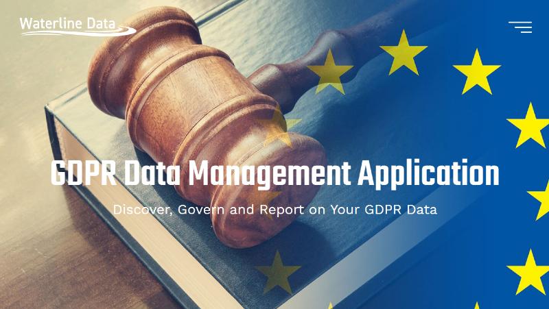 Waterline GDPR Data Management Application