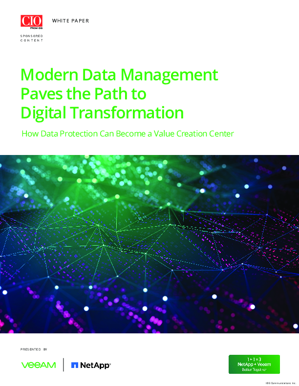 Modern Data Management Paves the Path to Digital Transformation