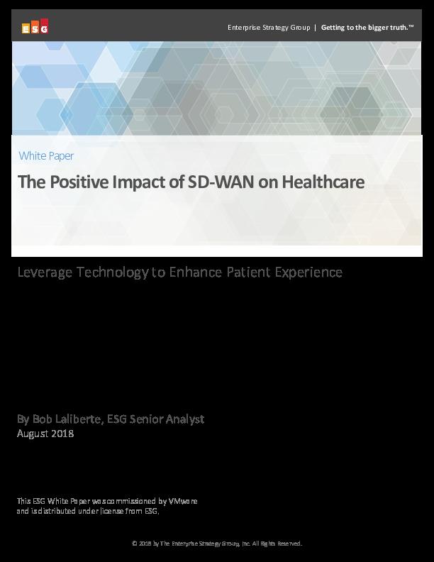 The Positive Impact of SD-WAN on Healthcare   CIO