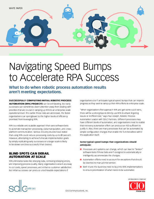White Paper: Navigating Speed Bumps to Accelerate RPA