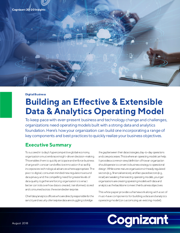 Building an Effective and Extensible Data & Analytics