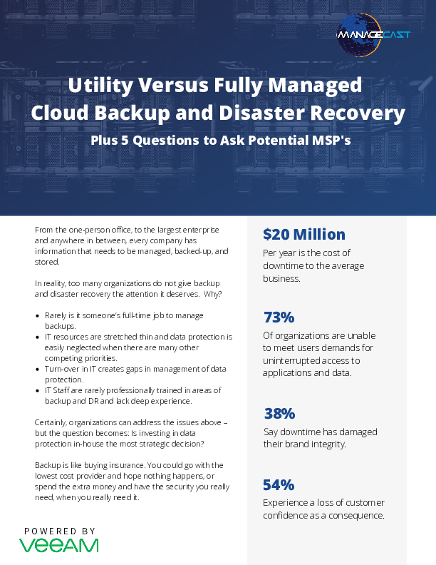 Utility Versus Fully Managed Cloud Backup and Disaster