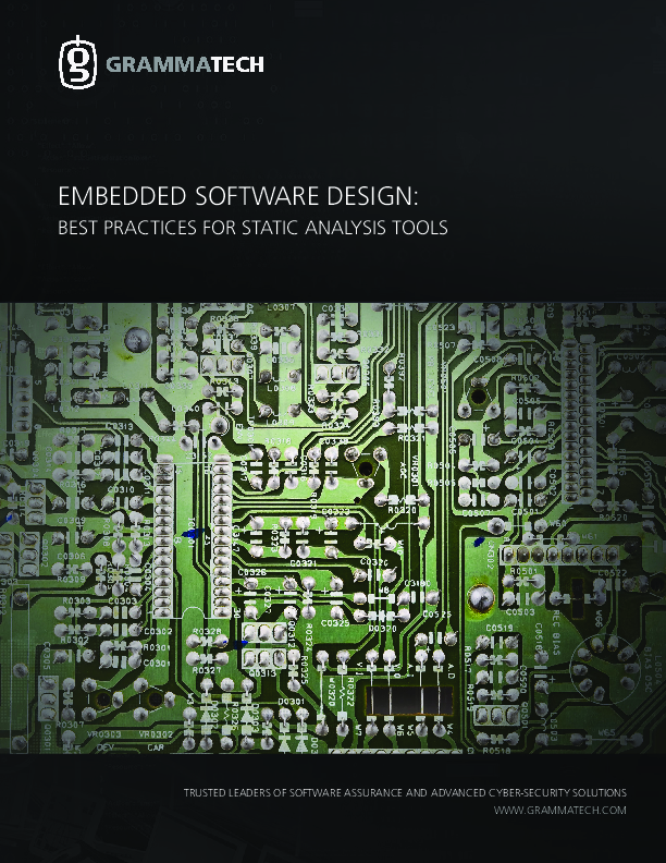 Embedded Software Design: Best Practices for Static Analysis