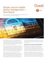 Simple, secure mobile device management - from Quest